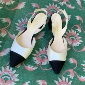 CHANEL Shoes - Chanel beautiful sling back shoes